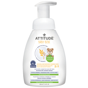 Attitude Baby Natural 2-in-1 Hair and Body Foaming Wash 295 ml