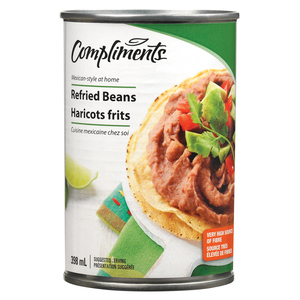 Compliments Refried Beans 398 ml