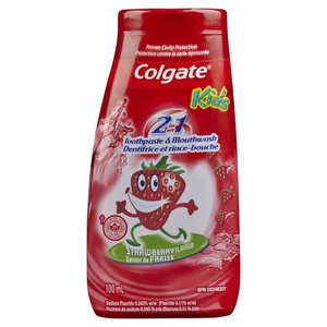 Colgate 2-In-1 Toothpaste And Mouthwash Strawberry 100 ml