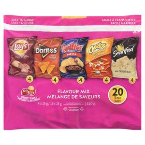 Frito Lay Mixed Variety Pack Potato Chips 20 Count 520 g