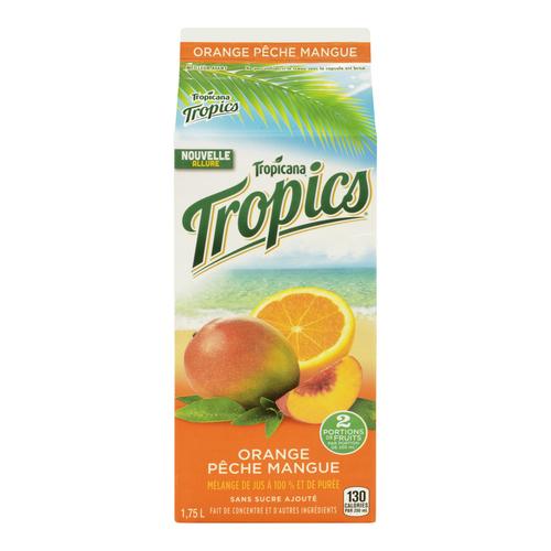 Tropicana Tropics Orange Peach Mango Juice 1.75 L
