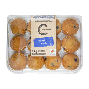 Compliments Mini Muffins Blueberry 276 g