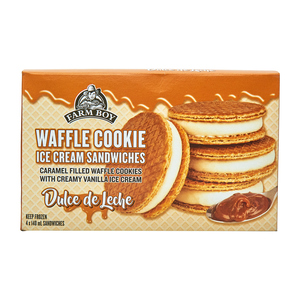 Farm Boy Waffle Cookie Ice Cream Sandwiches Dulce de Leche 4 x 140 ml