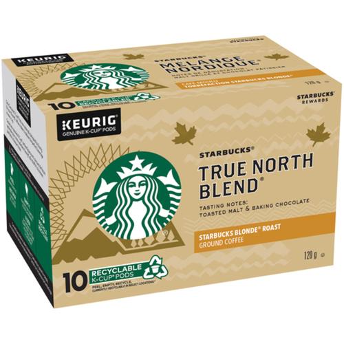 Starbucks True North Blend Coffee K-Cup Pods 10 EA
