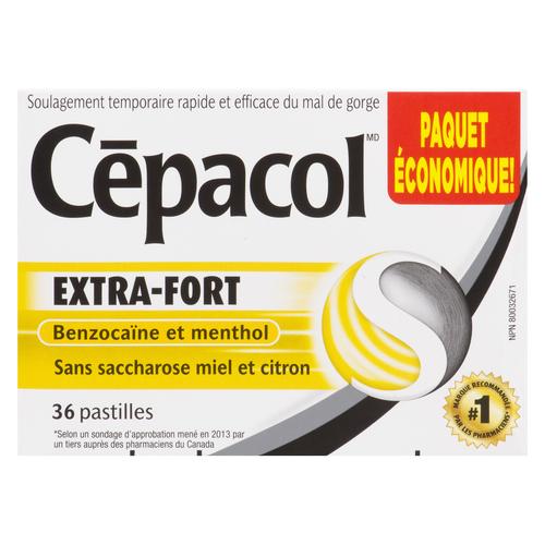 Cepacol Extra Honey and Lemon Lozenges 36 Count