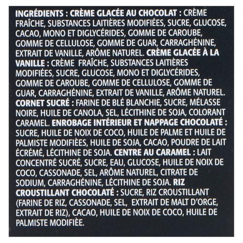 Chapman's Vanilla & Chocolate With Caramel Centre Supercone Ice Cream 8 x 120 ml