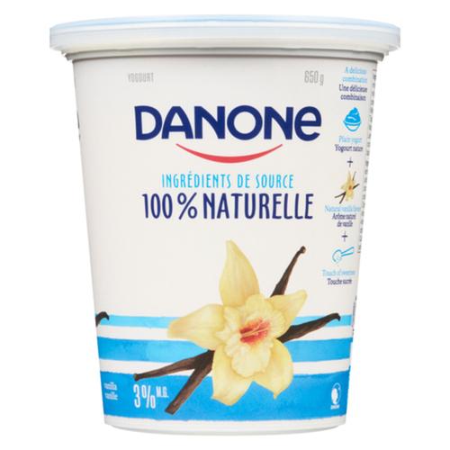 Danone 100% Naturel Source Ingredients Vanilla 650 g