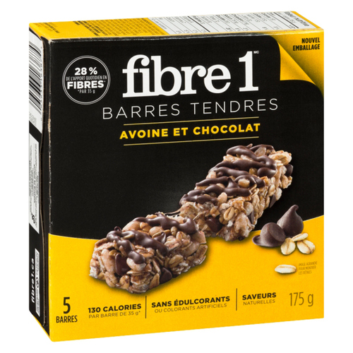 Fibre 1 Chewy Bars Oats & Chocolate 5 x 35 g