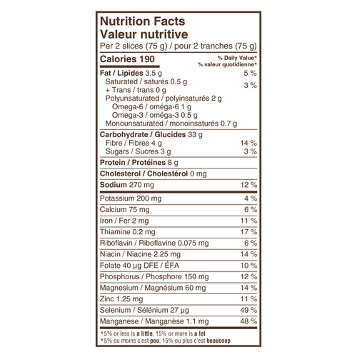 Dempster's 100% Whole Grains 12 Grain Bread 600 g