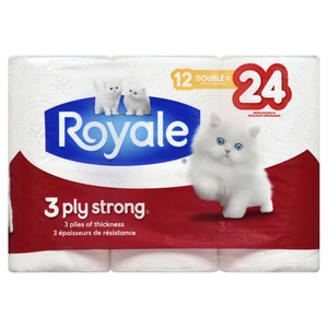 Royale Strong Bathroom Tissue 3-Ply 165 Sheet 12 Rolls