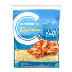 Compliments 28% Mozzarella Shredded Cheese 180 g