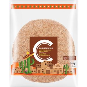 Compliments Whole Grain Whole Wheat Tortillas 366 g