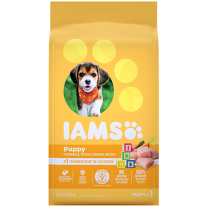 Iams Puppy Chicken and Whole Grains Dry Dog Food 3.18 kg