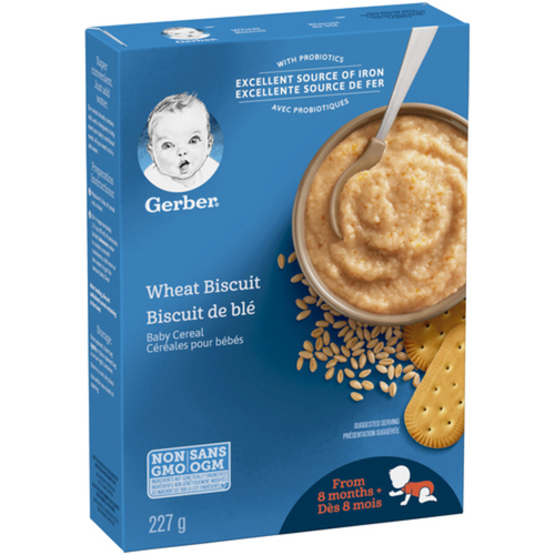 Gerber Stage 3 Baby Cereal Wheat Biscuit 227 g