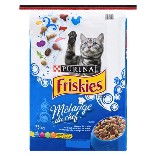 Purina Friskies Cat Food Chef's Blend 7.5 kg