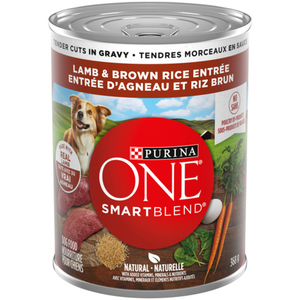Purina ONE SmartBlend Lamb & Brown Rice Entrée Tender Cuts in Gravy Wet Dog Food 368g