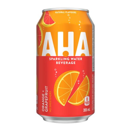 AHA Orange Grapefruit Fridge Pack Cans Water 355 ml