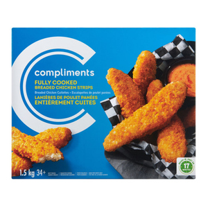 Compliments Fully Cooked Chicken Strips 1.5 kg
