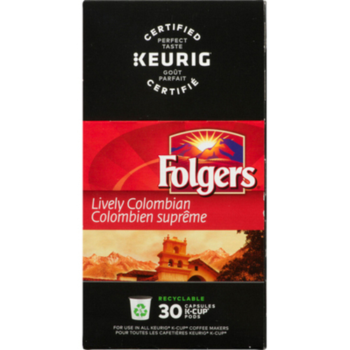 Folgers Lively Colombian Coffee 30 K-Cups 270 g