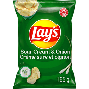 Lay's Potato Chips Sour Cream And Onion 165 g
