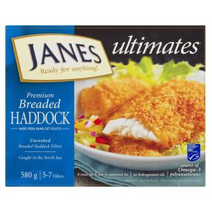 Janes Scottish Haddock 580 g