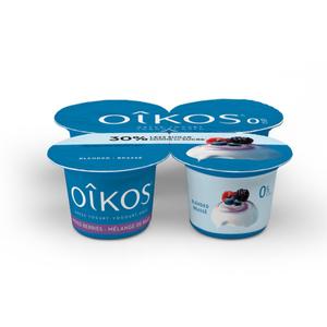 Oikos Triple Zero Greek Yogurt Mixed Berry 4 x 100 g