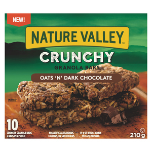 Nature Valley Crunchy Granola Bars Oats And Dark Chocolate 210 g