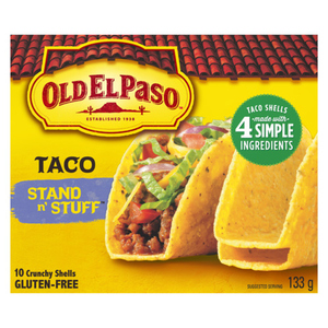 Old El Paso Gluten-Free Taco Shells Stand & Stuff 133 g