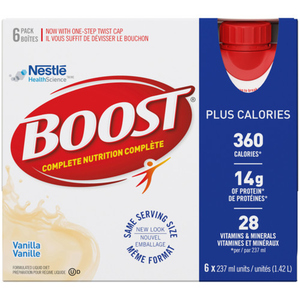 Boost Plus Meal Replacement Calories Plus Shake Liquid Diet Drink Vanilla 6 x 237 mL