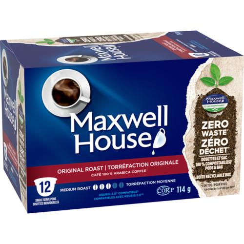 Maxwell House Coffee Pods Original Roast 12 PK