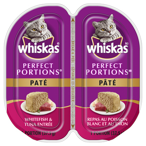 Whiskas Perfect Portions Cat Food Pate Whitefish & Tuna Entrée 75 g