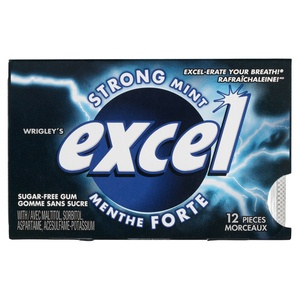 Excel Gum Sugar Free Strong Mint 12 Pieces