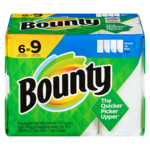 Bounty Select A Size 74 Count Papertowel 6 ea