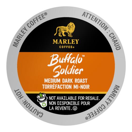 Marley Coffee Medium-Dark Roast Coffee Buffalo Soldier 24 K-Cups 264 g