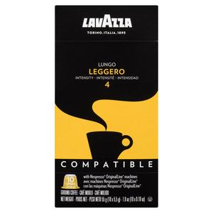 Lavazza Leggero Lungo Coffee 10 Nespresso Capsules