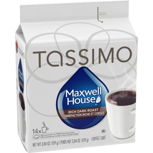 Tassimo Coffee Pods Maxwell House Dark Roast 14 PK