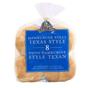 Farm Boy Texas Hamburger Buns 8 EA 400 g