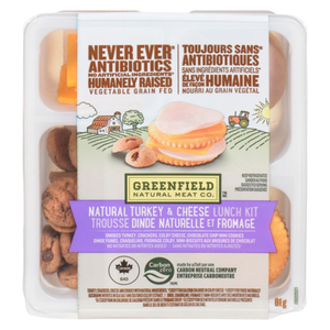 Greenfield Natural Meat Co Natural Turkey & Cheese Lunch Kit 81 g