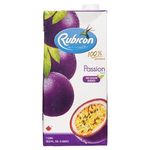 Rubicon Passion Fruit Juice No Sugar Added 1 L