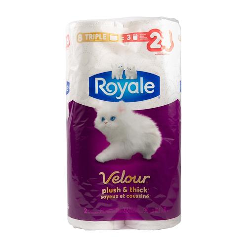 Royale Velour Triple Roll Bathroom Tissue 2-Ply 213 Sheet 8 Rolls