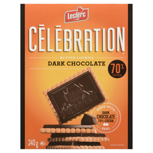 Leclerc Celebrity Dark Chocolate 70% Butter Cookies240 g