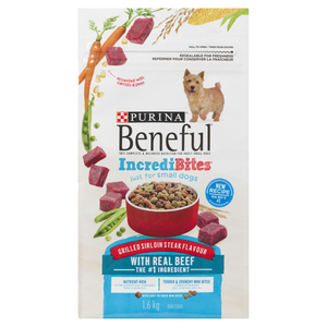 Beneful Incredibites Dry Dog Food for Small Dogs, Grilled Sirloin Steak 1.6 kg