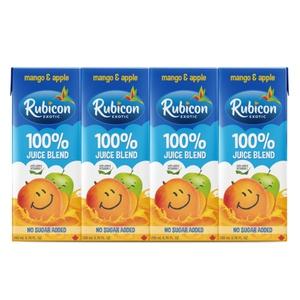 Rubicon No Sugar Added Juice Mango & Apple 4 x 200 ml