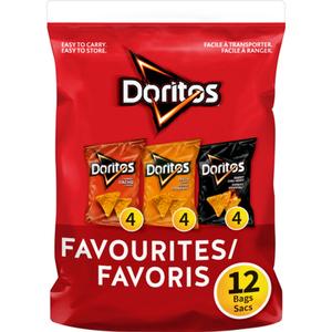 Doritos Favourites Tortilla Chips 12 x 28 g