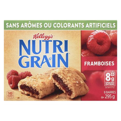 Kellogg's Nutrigrain Raspberry Cereal Bars 8 x 37 g