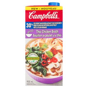 Campbell's Broth Thai Chicken Less Salt 900 ml