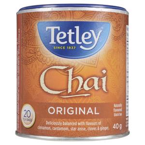 Tetley Chai Tea 20 Tea Bags