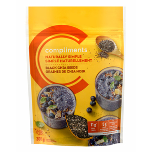 Compliments Black Chia Seeds 300 g