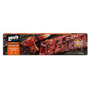 Lou's Pork Back Ribs In BBQ Sauce 500 g