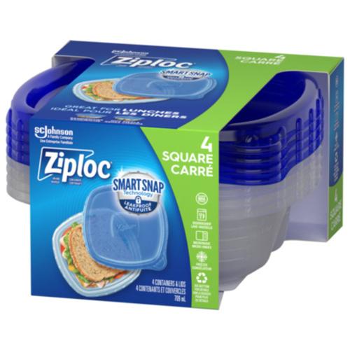 Ziploc Containers Small Square 4 EA